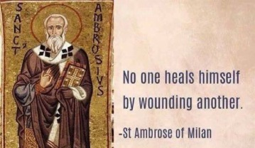 no one heals by wounding another
