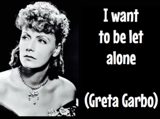 Garbo - alone