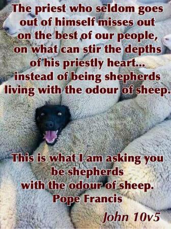 shepherds with the odour of sheep