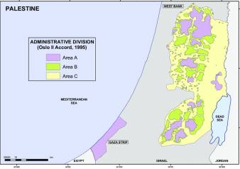 Map-of-Palestine-Oslo-II-Accord-1995-Administrative-Divisions-Areas-A-B-and-C