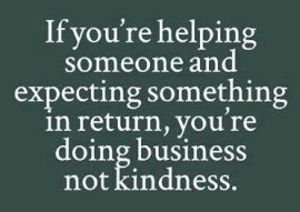 business not kindness