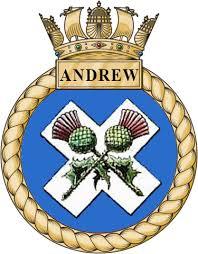 HMS Andrew crest
