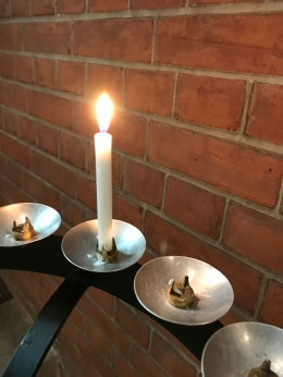 Candle on Pricket at St Johns