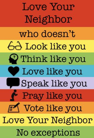 love your different neighbour