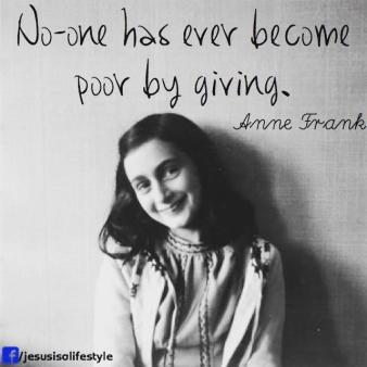 no one become poor by giving