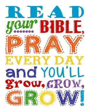 read your bible pray every day