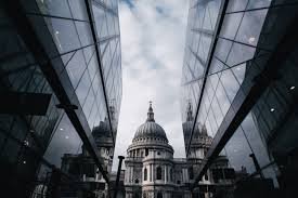 St Pauls cathedral and Office blocks