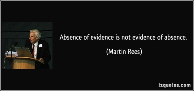 absence of evidence is not evidence of absence-martin-rees-261572