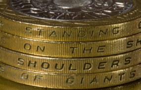 £2 Coin shoulders of giants