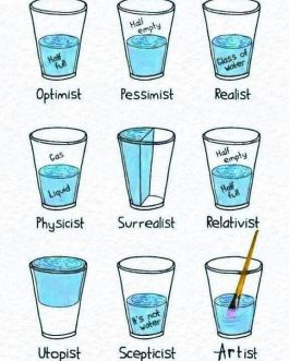 half full glasses