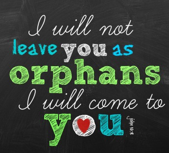 i will not leave you as orphans John 14v18