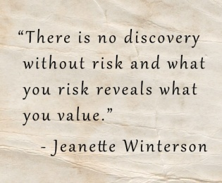 jeanette winterson no discovery without risk