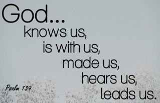 Psalm 139 God Knows us