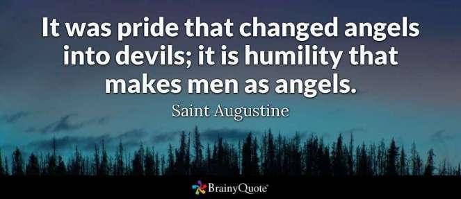 saint augustine pride and humility