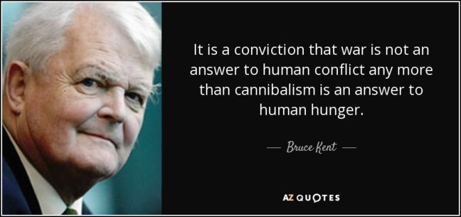 war not answer to conflict any more than cannibalism bruce kent