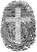 Cross in fingerprint