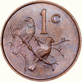 two sparrow SA 1 cent