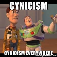 cynicism everywhere Buzz Lightyear