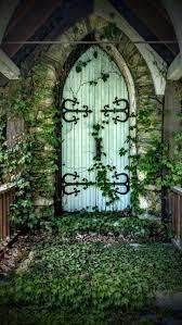 overgrown church doorway