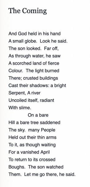 The Coming - RS Thomas
