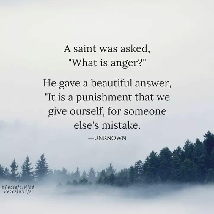 Anger punishment for someone else's sin