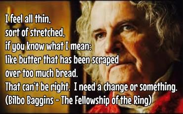 Bilbo - I feel thin