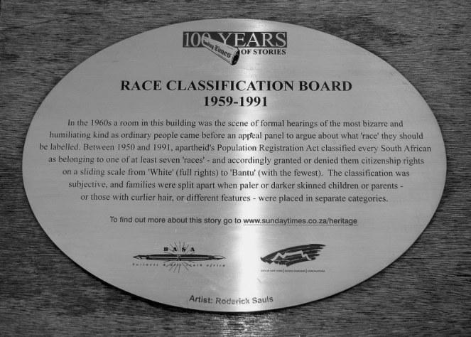 Race Classification Board
