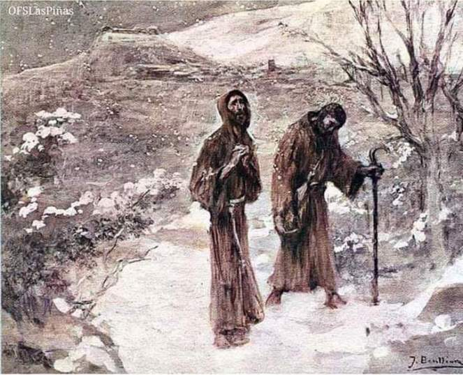 Francis and Leo in snow
