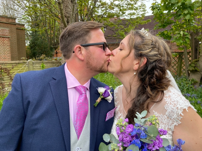 Sara and Jothy Wedding Kiss