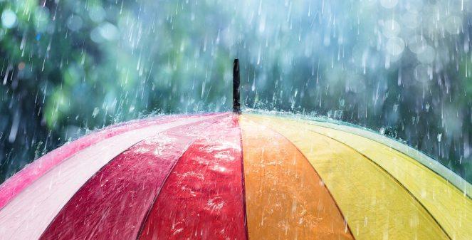 Rain and rainbow umbrella